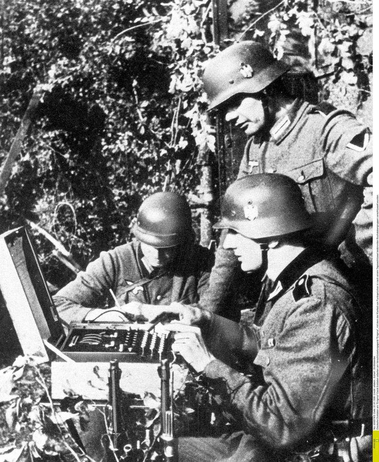 Duitse soldaten.  Beeld RV