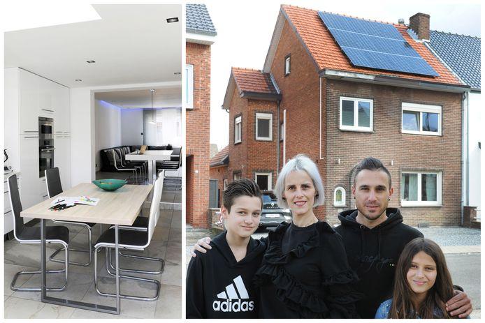 Eef en Silvio kochten hun huis vooral vanwege de centrale ligging in Maasmechelen.