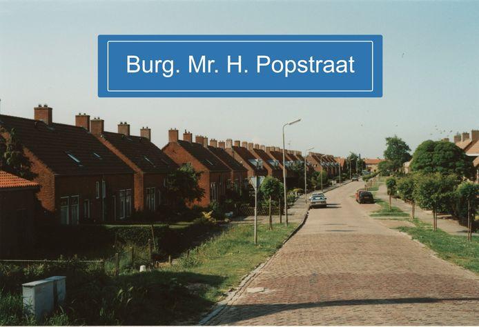 De Burgemeester Meester H. Popstraat in Dinteloord