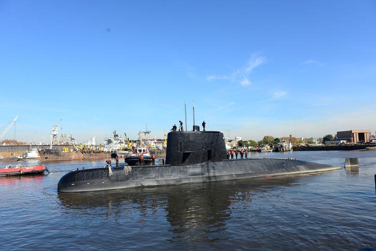 De Argentijnse onderzeeër Ara San Juan. Beeld REUTERS