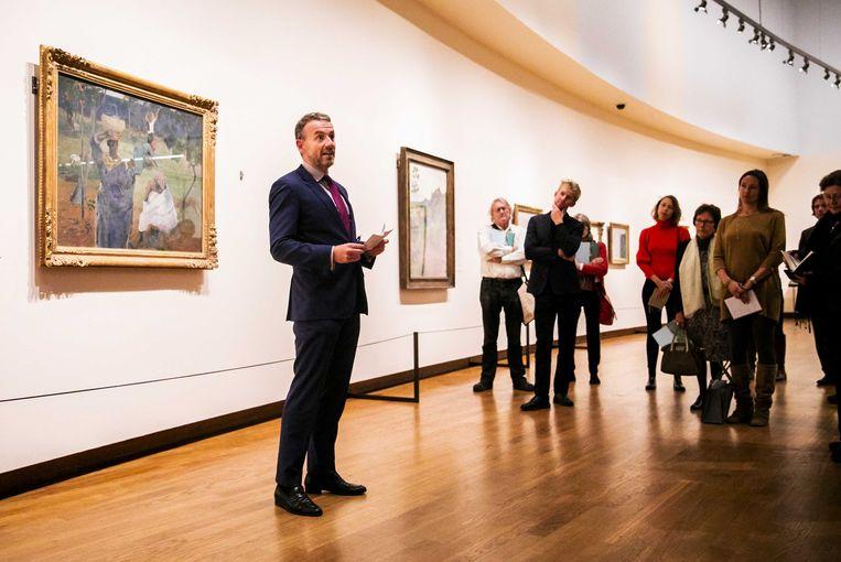 Axel Ruger, directeur van het Van Gogh Museum, tijdens een perspreview van de tentoonstelling Gauguin & Laval op Martinique Beeld ANP