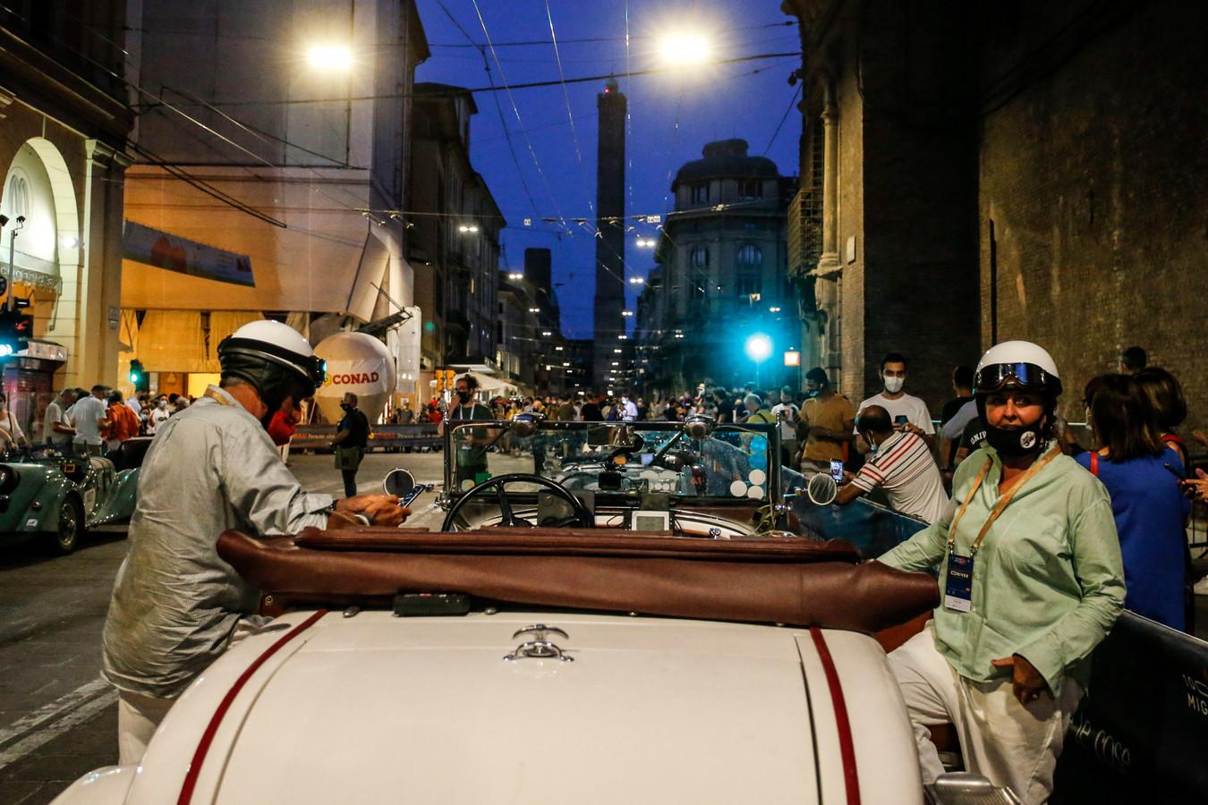 De finish van de derde dag: Bologna