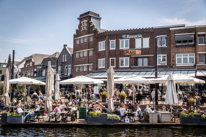 Terrassen in Helmond. (archieffoto)