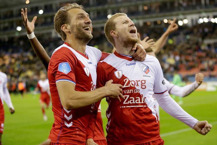 Willem Janssen en Simon Gustafson van FC Utrecht