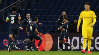 PSG wipt bleek Dortmund uit de Champions League in leeg Parc des Princes