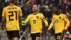 """Matchwinnaar Hazard: """"Erg belangrijk om met zege te starten"""", Alderweireld: """"Wilden valse start vermijden"""""""