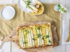 Wat Eten We Vandaag: Plaattaart met witte asperges en aardappel