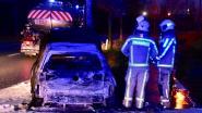 Rit huiswaarts na discotheekbezoek eindigt in vuurzee: bestuurder spoorloos