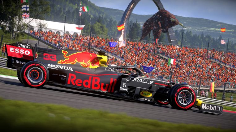 Een Grand Prix-circuit met een tribune die helemaal oranje kleur: dat moet Zandvoort zijn. Beeld Codemasters