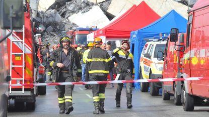 """Reddingswerkers zetten zoektocht naar slachtoffers Genua voort, """"mogelijk nog 10 tot 20 mensen onder puin"""""""