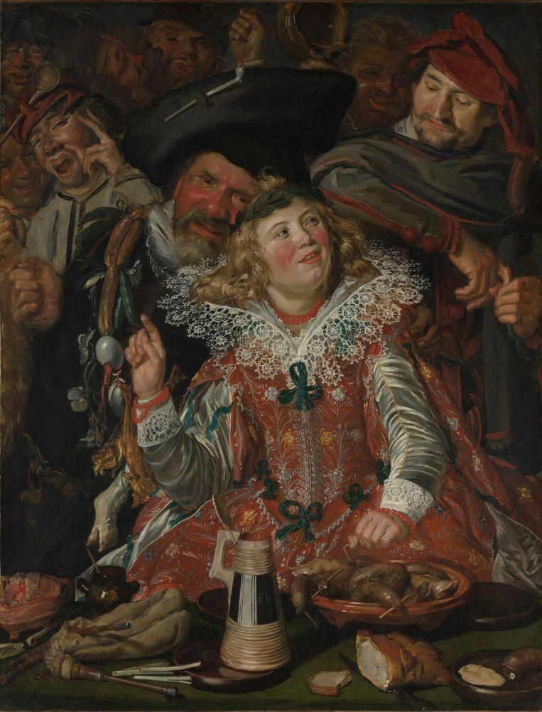 Vastenavond door Frans Hals, geschilderd in 1616/1617, tijdens de Tachtigjarige Oorlog.  Beeld Sepia Times/Universal Images Group/Getty