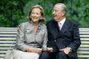 Koningin Paola en koning Albert.