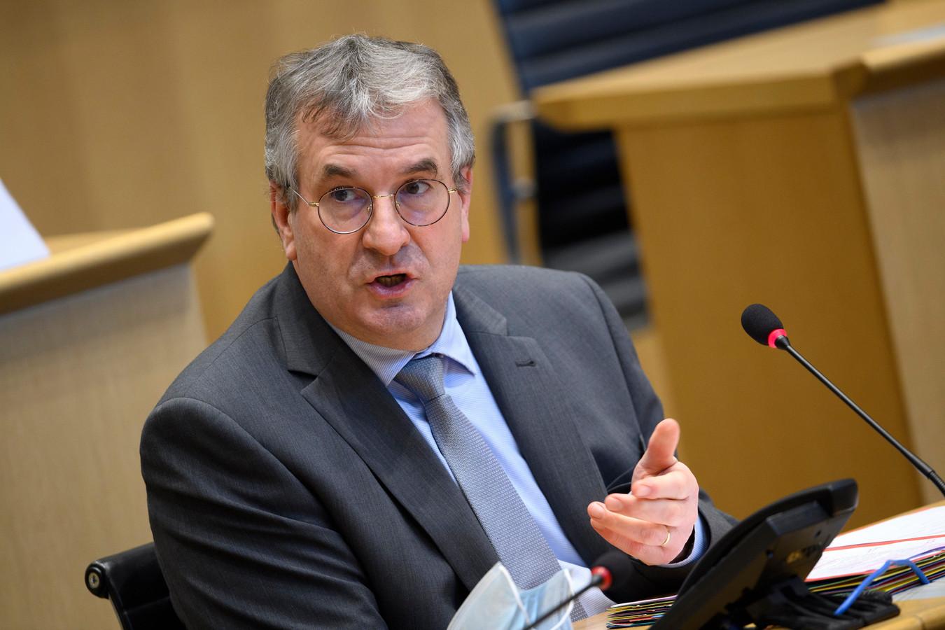 Pierre-Yves Jeholet, ministre-président de la Fédération Wallonie-Bruxelles.
