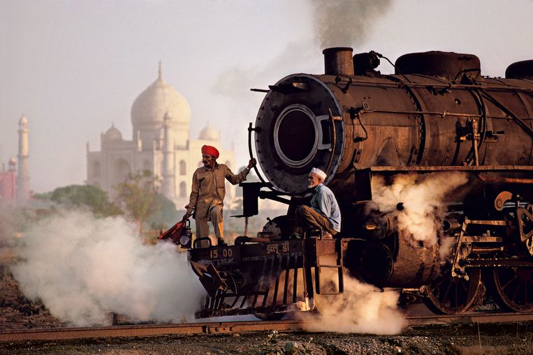 De Taj Mahal bij Agra, Uttar Pradesh. McCurry: 'India blaast je omver.' Beeld Steve McCurry