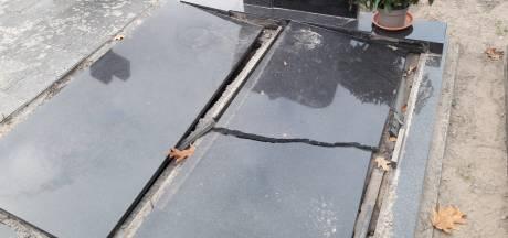 Autocrosser vernielt twee zerken op begraafplaats van Moergestel: 'Hier kan ik met mijn pet niet bij'