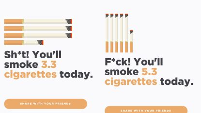 App vertelt hoeveel sigaretten je 'rookt' door luchtvervuiling