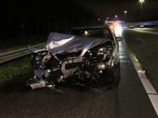 A13 richting Rotterdam uren dicht door ongeluk