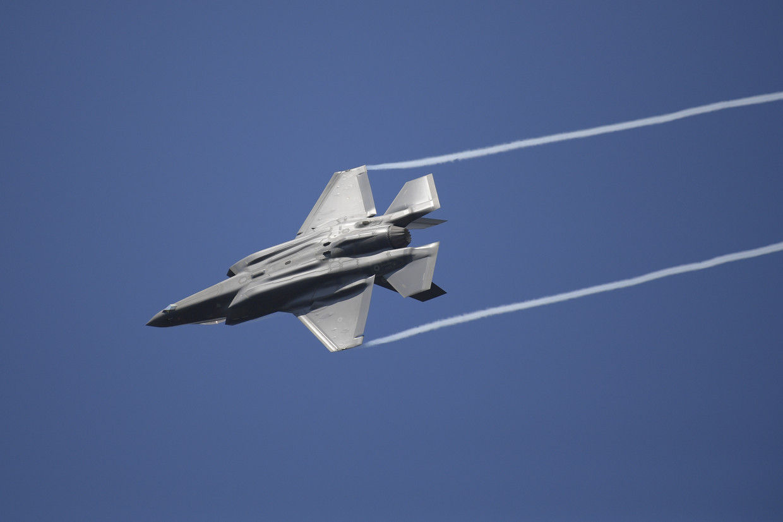 De F-35 van Lockheed Martin. Beeld BELGA