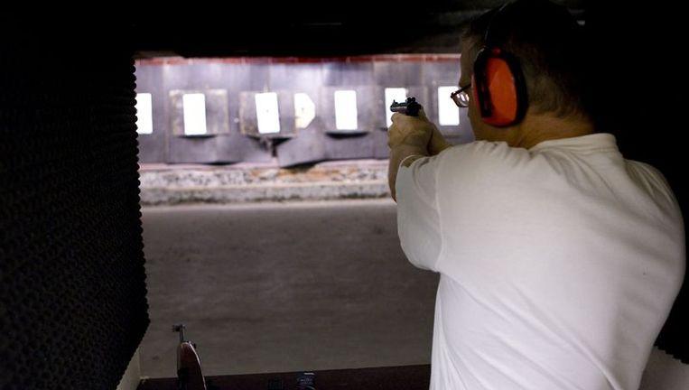 Archieffoto van een schietvereniging. Het gaat niet mm Tref het punt, waar het incident heeft plaatsgevonden. Foto ANP Beeld