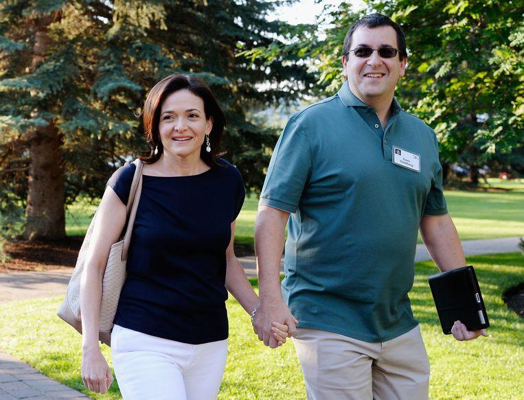 Sheryl Sandberg en haar echtgenoot Dave Goldberg. Beeld