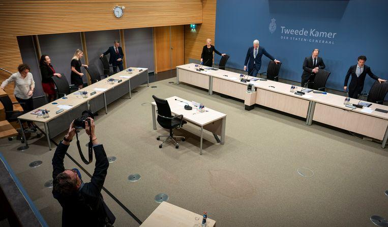 De parlementaire ondervragingscommissie Kinderopvangtoeslag.  Beeld Freek van den Bergh / de Volkskrant