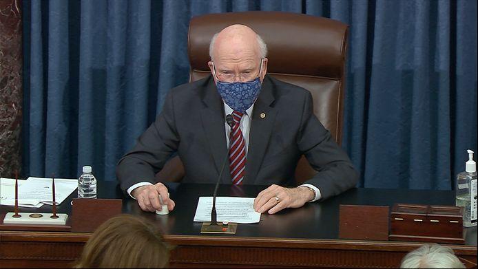 De Democratische senator Patrick Leahy het proces zal voorzitten.