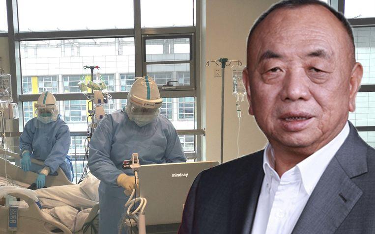 Li Xiting is medeoprichter van het bedrijf Mindray Medical, dat beademingstoestellen verkoopt.