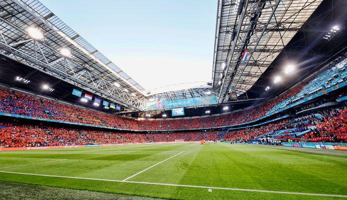 De JohanCruyff Arena voor het duel met Oekraïne.