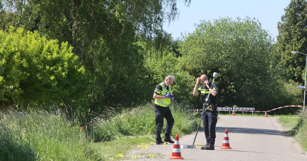 Een paar tellen na het dodelijke ongeluk in Zaltbommel was de blauwe auto nergens meer te bekennen.