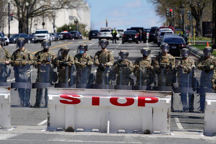 De Nationale Garde schermt de omgeving af na het incident.