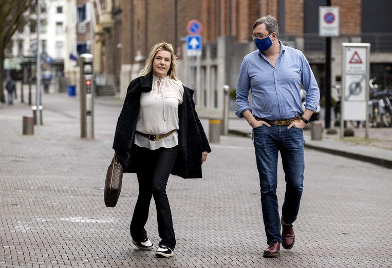 Lucille Werner (CDA) komt aan op het Binnenhof, de dag na de Tweede Kamerverkiezingen.  Beeld ANP