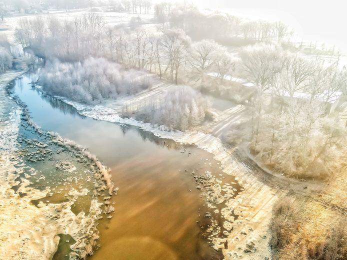 De dronefoto van Richard Hammers.
