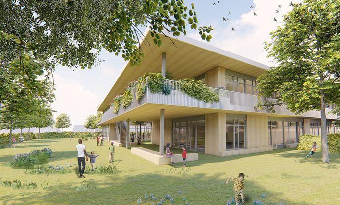 Het nieuwe Kindcentrum IJsselmonde bevat onder meer een fusieschool van De Kubus en De Groene Palm, SBO Van Heuven Goedhart en een Centrum voor Jeugd en Gezin. De oplevering is medio 2021.