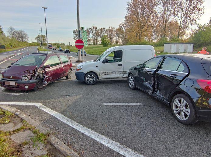 Op 6 mei gebeurde dit ongeval op de Oudenaardsesteenweg.