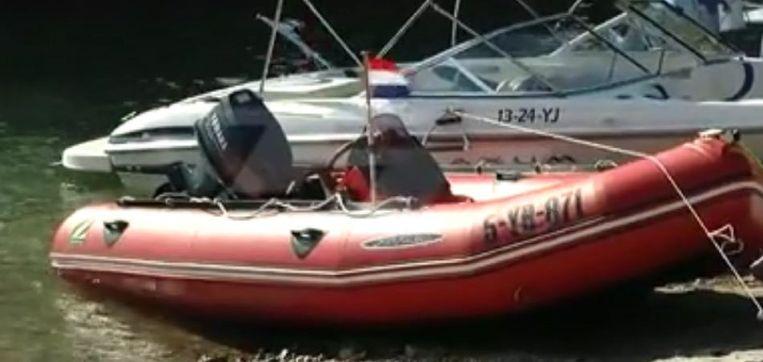 De motorboot van het slachtoffer.