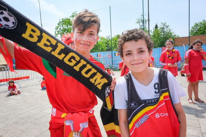Sohaib Assekkal (12) en Mohammed Elkourachi (11) staan als één man achter de Duivels.