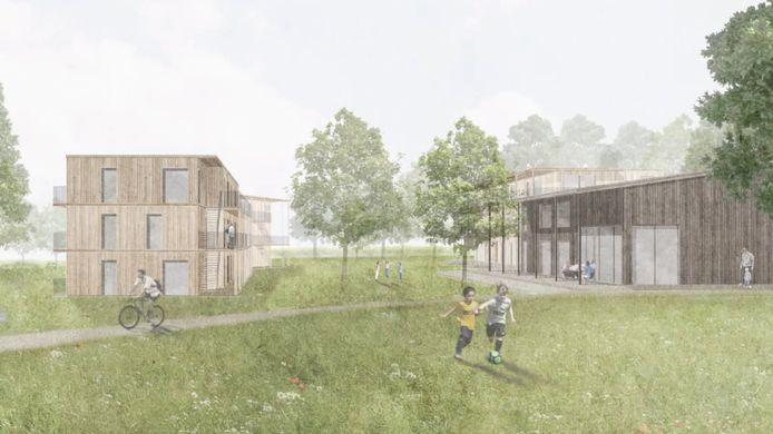 Een beeld van de toekomstige woongelegenheden aan Ekelen in Herentals