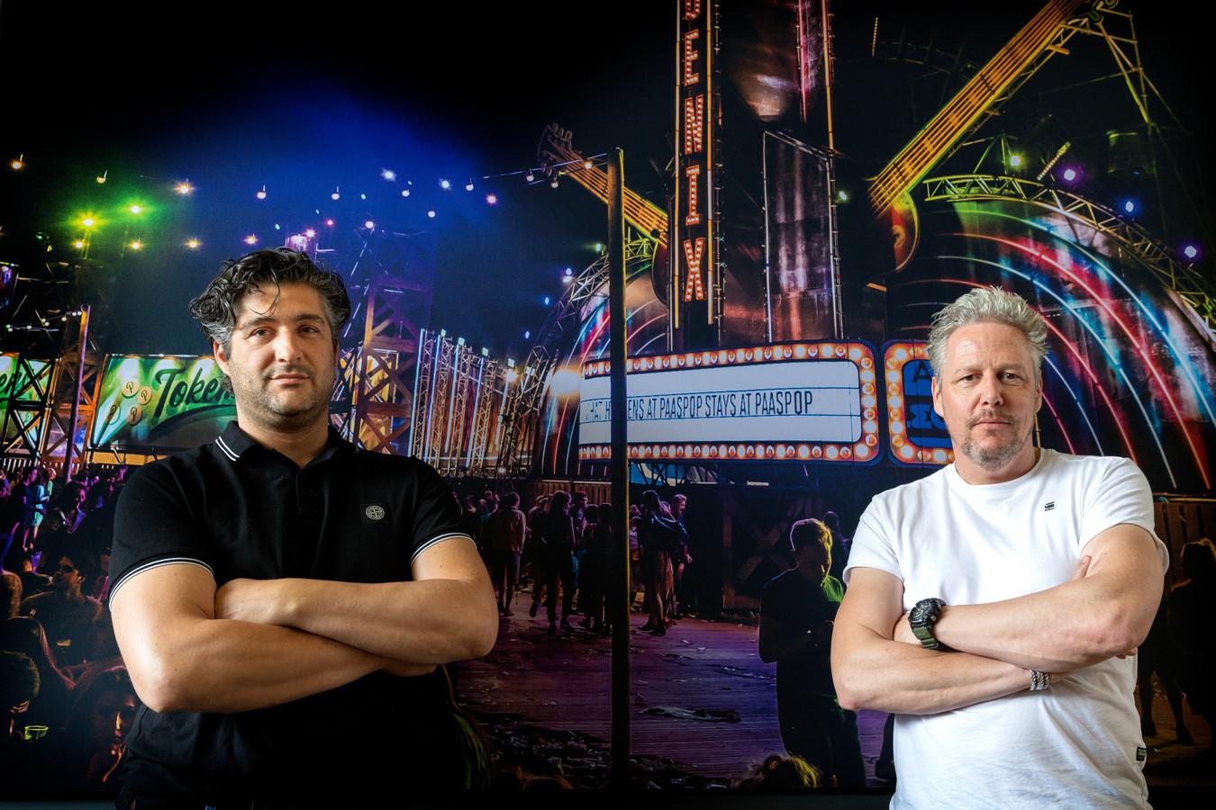 Joop Soree (links) en Peter Sanders van The Event Warehouse in Schijndel, dat nu ook Extrema overnam.