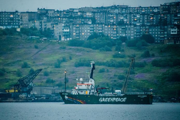 Het schip onderweg naar Nederland.