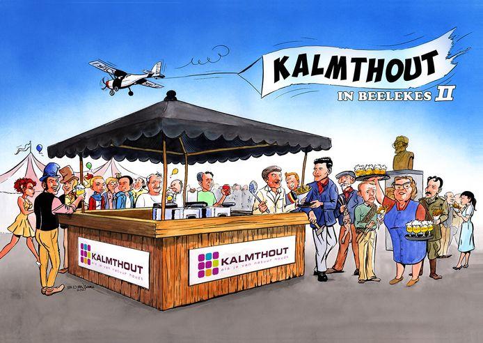 Kalmthout in Beelekes II vereeuwigt weer enkele bekende of zelfs legendarische figuren van Kalmthout. Wie anders dan supervrijwilliger Jaro, in het midden aan de toog, verdient ook een plaats.