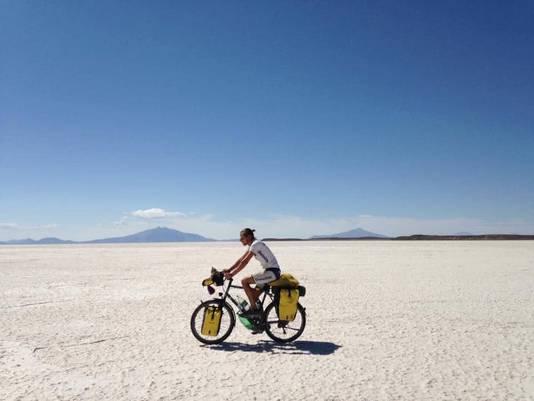 Ce n'est pas la première fois que Romain fait ce genre de voyage à vélo.