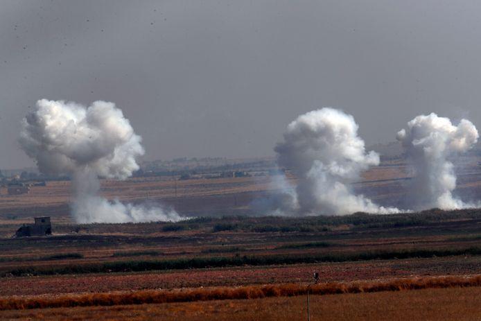 Turks offensief in het noordoosten van Syrië.