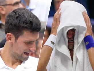 Ongezien: Novak Djokovic barst nog voor het eind van zijn verloren finale in tranen uit