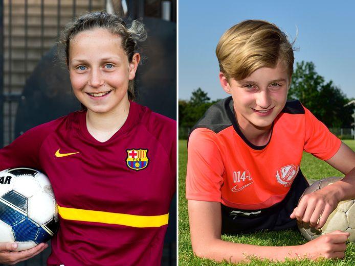 Aline Weerelts (12 jaar) en Sil Zwanenburg (14 jaar).