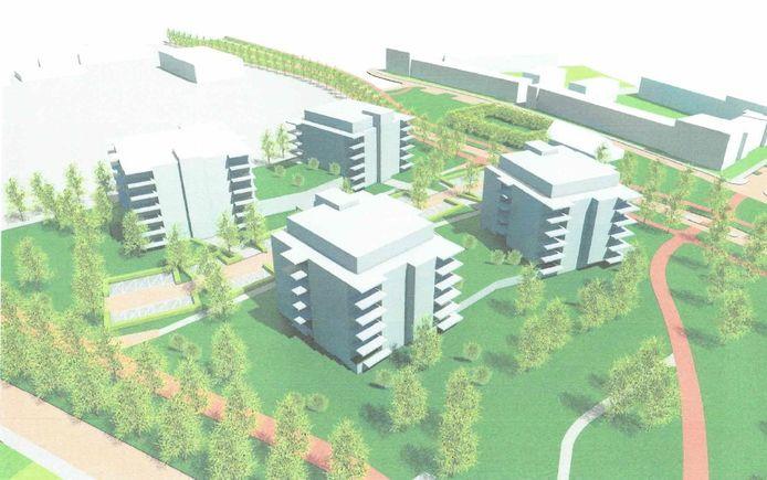 Impressie van het bouwplan aan de Couperuslaan