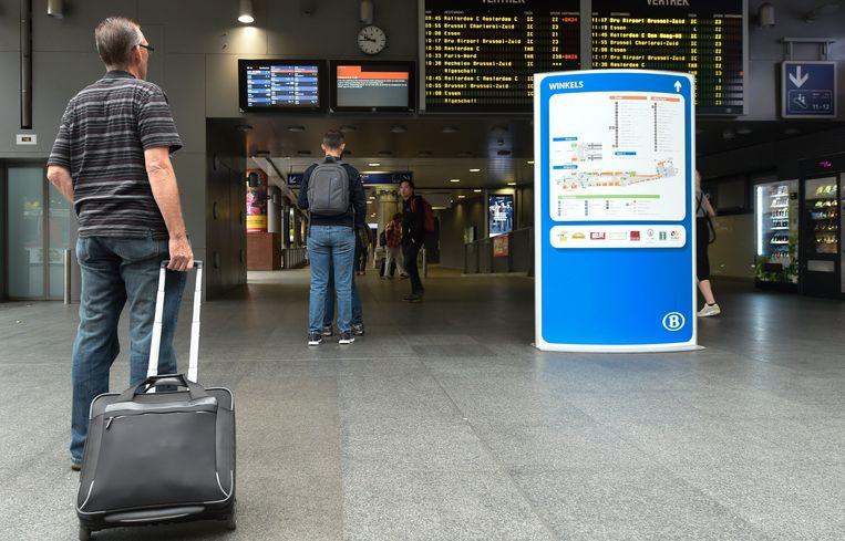 Ook op de tweede dag van de staking is het treinverkeer ernstig verstoord.  Beeld Photo News