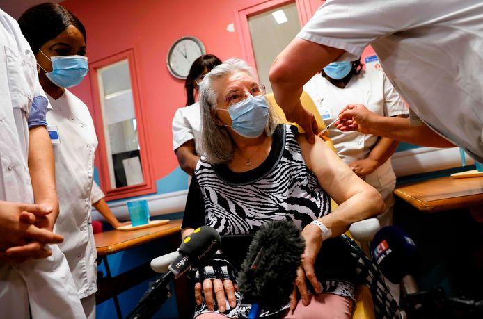 Mauricette, vaccinée dimanche à Sevran