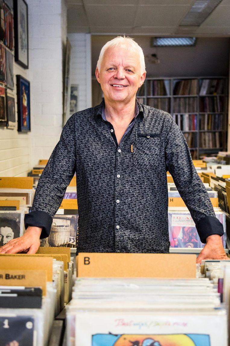Jan van Dorsten runt sinds 1988 platenzaak Record Palace op de Weteringschans Beeld Tammy van Nerum