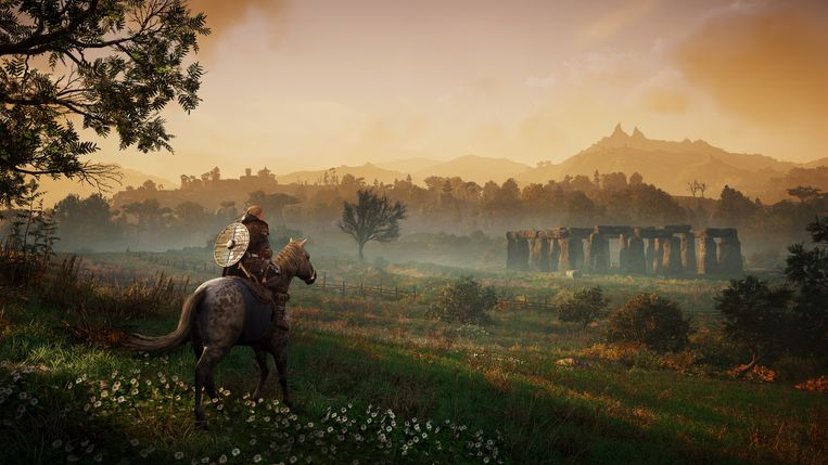 Nog een technisch voordeel van de nieuwe consoles: in games als 'Assassin's Creed: Valhalla' kun je nog meer in de verte kijken. Beeld Ubisoft