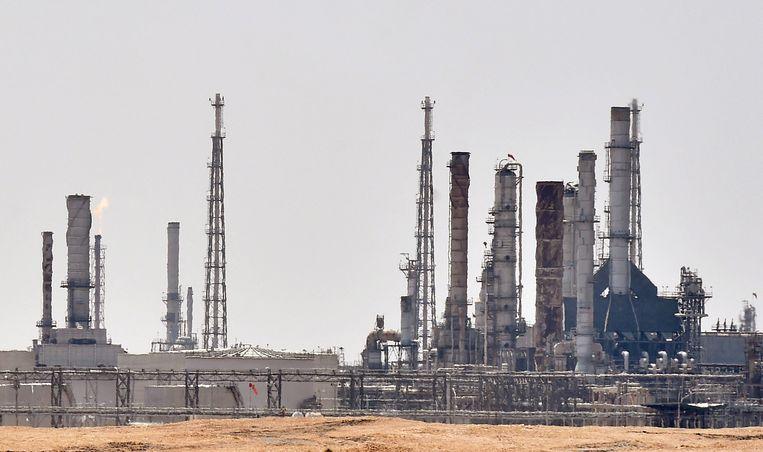 Een olieraffinaderij van Aramco Oil nabij Riyad.  Beeld AFP